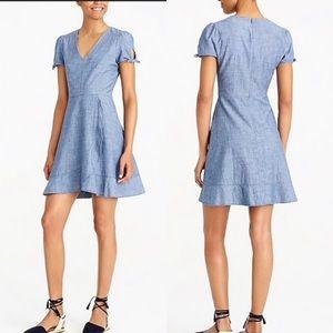 NWT JCrew chambray denim faux-Wrap dress size 12